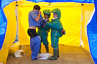 Decontamination exercise at Chesterfield Royal Hospital NHS Foundation Trust