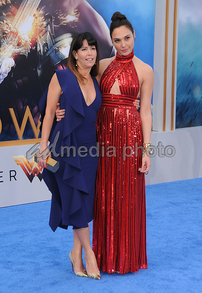 "25 May 2017 - Hollywood, California - Patty Jenkins, Gal Gadot. World  Premiere of Warner Bros. Pictures'  ""Wonder Woman"" held at The Pantages Theater in Hollywood. Photo Credit: Birdie Thompson/AdMedia"