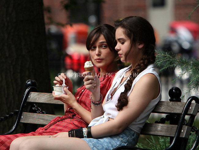 WWW.ACEPIXS.COM . . . . .  ....July 18 2012, New York City....Keira Knightley and Hailee Steinfeld on the set of the new movie 'Can a song save your life' on July 18 2012 in New York City....Please byline: Zelig Shaul - ACE PICTURES.... *** ***..Ace Pictures, Inc:  ..Philip Vaughan (212) 243-8787 or (646) 769 0430..e-mail: info@acepixs.com..web: http://www.acepixs.com