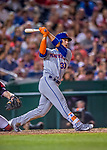 28 April 2017: New York Mets outfielder Michael Conforto in action against the Washington Nationals at Nationals Park in Washington, DC. The Mets defeated the Nationals 7-5 to take the first game of their 3-game weekend series. Mandatory Credit: Ed Wolfstein Photo *** RAW (NEF) Image File Available ***