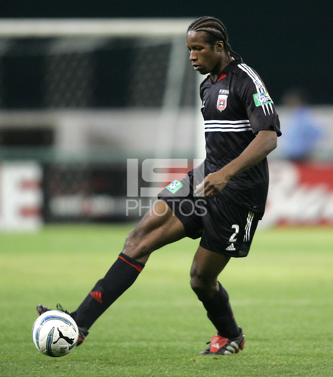 9 April 2005.   DC United defender David Stokes (2) handles the ball while playing the Chicago Fire at RFK Stadium in Washington, DC.
