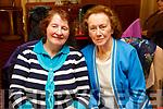 Bridie Lane Brosnan (Brosna) and Winnie Greaney (Knocknagoshel) attending the Sliabh Luachra Active Retired NetworkTea Dance in the River Island Hotel in Castleisland on Sunday