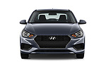 Car photography straight front view of a 2018 Hyundai Accent SE 4 Door Sedan