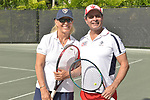WESTON, FL - DECEMBER 08: Martina Navratilova, former Czechoslovak and American professional tennis player and coach and Sajid Malik playing at Midtown Athletic Club Weston on December 08, 2018 in Weston, Florida. ( Photo by Johnny Louis / jlnphotography.com )