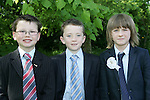 Robbie McAuley,Cathal Quinn and Neil Boylan at First Communion in Sandpit on Saturday.