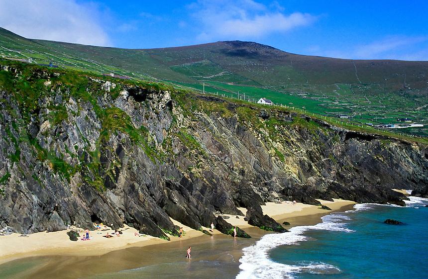 Beach and cliffs along the Irish West coast, Ireland