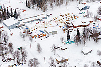 Teams rest on straw around the village of Grayling community center checkpoint on the Yukon River on Saturday, March 10th during the 2018 Iditarod Sled Dog Race -- Alaska<br /> <br /> Photo by Jeff Schultz/SchultzPhoto.com  (C) 2018  ALL RIGHTS RESERVED