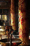 Bao-jhong Yi-min Temple, Kaohsiung -- Temple pillars in the afternoon sun.