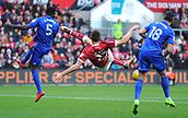 4th November 2017, Ashton Gate, Bristol, England; EFL Championship football, Bristol City versus Cardiff City; Milan Duric of Bristol City misses the volley