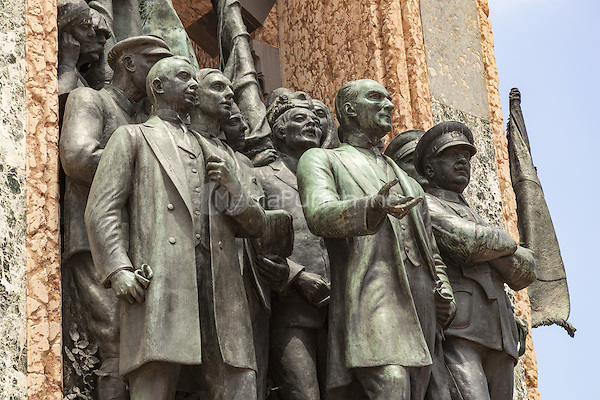 Republic Monument, designed by Pietro Canonica, Taksim Square, Istanbul, Turkey  May 2015.<br /> CAP/MEL<br /> &copy;MEL/Capital Pictures /MediaPunch ***NORTH AND SOUTH AMERICA ONLY***