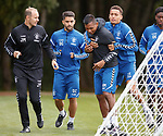 24.08.2018 Rangers training: Alfredo Morelos and James Tavernier