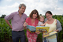 09/07/14<br /> <br /> L/R:  Axel Scheffler,  Julia Donaldson and Oliver Heighington (20 months) and his mum Nina Heighington.<br /> <br /> A ten acre field of maize is turned into a giant scarecrow maze. The characters are from from Julia Donaldson's new book - The Scarecrows' Wedding. The Gruffalo author was joined by the books' illustrator, Axel Scheffler to open the maze today at The National Forest Adventure Farm, Tattenhill, Staffordshire. <br /> All Rights Reserved: F Stop Press Ltd. +44(0)1335 300098   www.fstoppress.com.