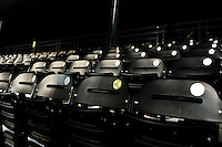 Bradenton Marauders empty seats during a game against the St. Lucie Mets on April 12, 2013 at McKechnie Field in Bradenton, Florida.  St. Lucie defeated Bradenton 6-5 in 12 innings.  (Mike Janes/Four Seam Images)