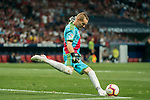 Goalkeeper Alberto Garcia Cabrera of Rayo Vallecano in action during the La Liga 2018-19 match between Atletico de Madrid and Rayo Vallecano at Wanda Metropolitano on August 25 2018 in Madrid, Spain. Photo by Diego Souto / Power Sport Images
