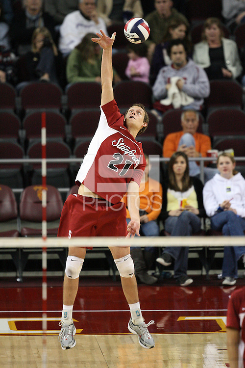 LOS ANGELES, CA - JANUARY 23:  Spencer McLachlin of the Stanford Cardinal during Stanford's 3-0 loss to the USC Trojans on January 23, 2009 at the Galen Center in Los Angeles, California.