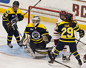 Mikyla Grant-Mentis (Merrimack - 13), Samantha Ridgewell (Merrimack - 34), Haley McLean (BC - 13), Chloe Cook (Merrimack - 29) - The number one seeded Boston College Eagles defeated the eight seeded Merrimack College Warriors 1-0 to sweep their Hockey East quarterfinal series on Friday, February 24, 2017, at Kelley Rink in Conte Forum in Chestnut Hill, Massachusetts.The number one seeded Boston College Eagles defeated the eight seeded Merrimack College Warriors 1-0 to sweep their Hockey East quarterfinal series on Friday, February 24, 2017, at Kelley Rink in Conte Forum in Chestnut Hill, Massachusetts.