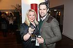 Cardiff, WALES - November 22:.Otley Brewery event at the Radisson Blu Hotel.Rebecca Richards & Geraint Jones.22.11.12..©Steve Pope