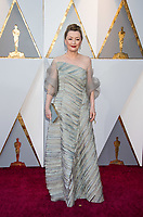 Oscar&reg; nominee for Best Supporting Actress, Lesley Manville arrives on the red carpet of The 90th Oscars&reg; at the Dolby&reg; Theatre in Hollywood, CA on Sunday, March 4, 2018.<br /> *Editorial Use Only*<br /> CAP/PLF/AMPAS<br /> Supplied by Capital Pictures