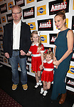 Jim Gaffigan and Jeannie Gaffigan with daughters (Kate and Marre)  attending the Broadway Opening Night Performance of 'Annie' at the Palace Theatre in New York City on 11/08/2012