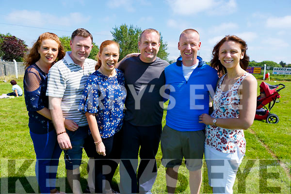 Catherine and Mark Blennerhassett, Siobhan and Gavin Lacey with Danny and Tracy Leen enjoying the warm hot weather at the St. Brendan's A.C. Open Sports Day in Ardfert on Monday.