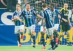 Stockholm 2015-05-25 Fotboll Allsvenskan Djurg&aring;rdens IF - AIK :  <br /> Djurg&aring;rdens Kerim Mrabti firar sin reducering 1-2 under matchen mellan Djurg&aring;rdens IF och AIK <br /> (Foto: Kenta J&ouml;nsson) Nyckelord:  Fotboll Allsvenskan Djurg&aring;rden DIF Tele2 Arena AIK Gnaget jubel gl&auml;dje lycka glad happy