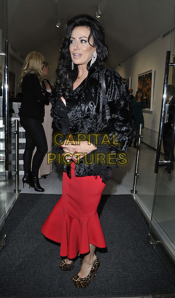 LONDON, ENGLAND - NOVEMBER 27: Nancy Dell'Olio attends the &quot;Mikhail Baryshnikov: Dancing Away&quot; photography collection private view, Contini Art UK, New Bond St., on Thursday November 27, 2014 in London, England, UK. <br /> CAP/CAN<br /> &copy;Can Nguyen/Capital Pictures