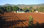 Small farmhouse and ploughed field, Kayakoy village, Turkey