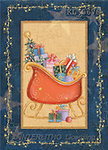 Interlitho, Andrea, CHRISTMAS SYMBOLS, paintings, sleigh, gifts(KL5678,#XX#)