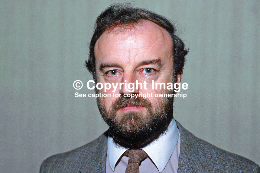 Bob Howard, general secretary, Northern  Section, Trades Union Congress, TUC, 19850039BH.<br />