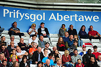 Fans of Swansea City infant of Prifsgol Abertawe advertising during the Sky Bet Championship match between Swansea City and Nottingham Forest at the Liberty Stadium, in Swansea, Wales, UK. Saturday 15 September 2018
