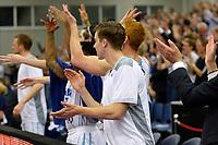 LEEK - Basketbal, Donar - Istanbul BBSK, Europe Cup, seizoen 2018-2019, 17-10-2018,  vreugde bij de bank van Donar