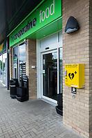 Defibrillator outside a Co-operative Store in Nottingham