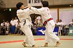 (L-R)<br /> Misaki Hoki,<br /> Mako Uchio,<br /> September 13, 2014 - Judo : <br /> All Japan Juior Judo Championships <br /> Women's -52kg Final<br /> at Saitama Kenritsu Budokan, Saitama, Japan. <br /> (Photo by Shingo Ito/AFLO SPORT) [1195]