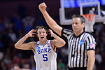 GREENVILLE, SC - MARCH 19: Luke Kennard (5) of Duke University reacts after fouling out against the University of South Carolina during the 2017 NCAA Men's Basketball Tournament held at Bon Secours Wellness Arena on March 19, 2017 in Greenville, South Carolina. (Photo by Grant Halverson/NCAA Photos via Getty Images)
