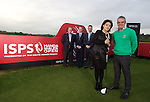 ISPS Handa Wales Open Announcement at the Celtic Manor Resort..Paul McGinley with Midori Miyazaki of new sponsor ISPS watched by, left to right, Richard Hills, Ryder Cup Director, The European Tour; Dylan Matthews, Chief Executive, Celtic Manor Resort; and Andrew White, Chief Executive, WSM Communications..28.11.11.©Steve Pope