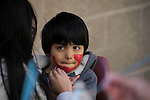 Ethan Sandoval, 5, of Carson City, gets his face painted during the 7th Annual Easter Fiesta at Western Nevada College Saturday, March 26, 2016. The event, hosted by the Association of Latin American Students, had 3 separate egg hunts, face painting, limbo, musical chairs, ring toss, sack races, bowling,  food, music and a piñata.  <br />