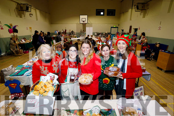 Pictured at Ardfert Christmas Craft Fair on Sunday last were l-r: Peg Goggin, Mary Jo Daly, Caitriona Goggin, Margaret Looney and Lorraine Nolan.