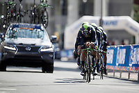 Team Movistar in the last kilometer before the finish<br /> <br /> <br /> Elite Men&rsquo;s Team Time Trial<br /> UCI Road World Championships Richmond 2015 / USA