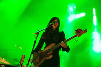 CARHAIX-PLOUGUER, FRANCE - JULY 15, 2016: Paz Lenchantin of The Pixies performs at the Festival des Vieilles Charrues, Carhaix-Plouguer, France<br /> Picture: Kristina Afanasyeva / Featureflash