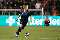 San Jose, CA - Saturday August 03, 2019: Jackson Yueill #14 in a Major League Soccer (MLS) match between the San Jose Earthquakes and the Columbus Crew at Avaya Stadium.