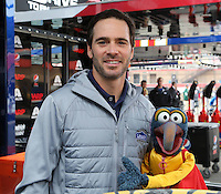 03/23/14 Fontana, CA:Jimmie Johnson and Gonzo