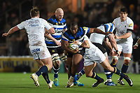 Beno Obano of Bath Rugby takes on the Worcester Warriors defence. Aviva Premiership match, between Worcester Warriors and Bath Rugby on January 5, 2018 at Sixways Stadium in Worcester, England. Photo by: Patrick Khachfe / Onside Images