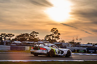 Sunset, #93 Dodge Viper,   Cameron Lawrence, Ben Keating, Marc Goossens, Al Carter   , 12 Hours of Sebring, Sebring International Raceway, Sebring, FL, March 2015.  (Photo by Brian Cleary/ www.bcpix.com )