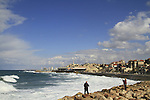 Israel, Tel Aviv-Yafo, fishing in Jaffa