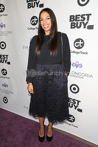 LOS ANGELES, CA - NOVEMBER 8: Rosario Dawson at the Eva Longoria Foundation Dinner Gala honoring Zoe Saldaña and Gina Rodriguez at The Four Seasons Beverly Hills in Los Angeles, California on November 8, 2018. Credit: Faye Sadou/MediaPunch