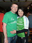 Paul Lennon and his wife Sarah in  Dunleer on their return from a cycle to Kilkenny in aid of Motor Neurones disease. Photo:Colin Bell/pressphotos.ie