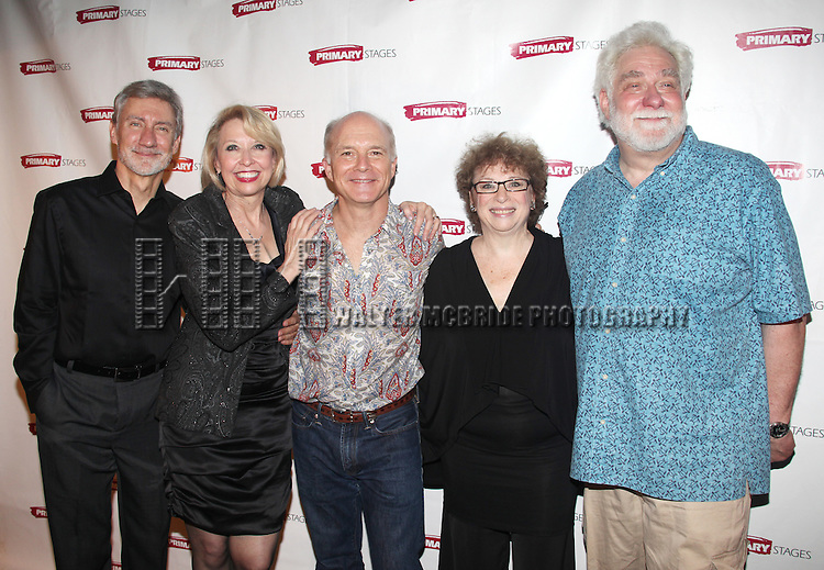 Julie Halston, David Garrison, Dan Butler, Marcia Jean Kurtz & Richard Masur attending the Opening Night Party for the Primary Stages Production of 'Olive and the Bitter Herbs' in New York City. ...