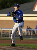 July 14, 2004:  Pitcher Mike MacDonald of the Auburn Doubledays, Short-Season Single-A affiliate of the Toronto Blue Jays, during a game at Dwyer Stadium in Batavia, NY.  Photo by:  Mike Janes/Four Seam Images