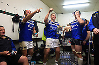 Bath Rugby players react in the changing rooms after the match. Gallagher Premiership match, between Leicester Tigers and Bath Rugby on May 18, 2019 at Welford Road in Leicester, England. Photo by: Patrick Khachfe / Onside Images