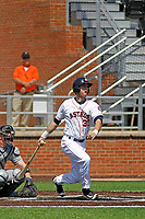 Buies Creek Astros outfielder Kyle Tucker (30) at bat during a game against the Winston-Salem Dash at Jim Perry Stadium on the campus of Campbell University on April 9, 2017 in Buies Creek, North Carolina. Buies Creek defeated Winston-Salem 2-0. (Robert Gurganus/Four Seam Images)